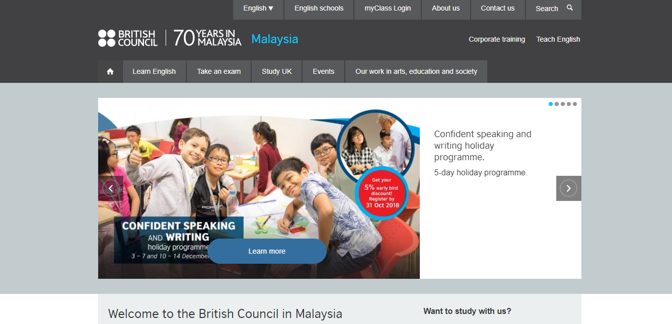 British Council Malaysiaの評判・口コミ