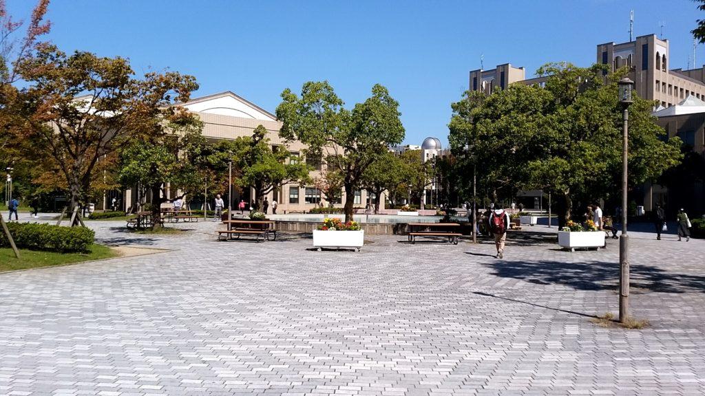 立命館大学にある噴水